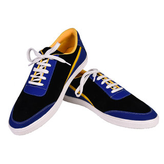 Tiacoo MenS Blue Casual Lace-Up Shoes - 92707606