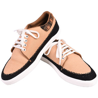 Tiacoo MenS Tan Casual Lace-Up Shoes