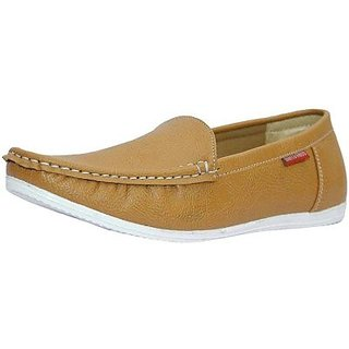 Mens Brown Casual Loafers Shoe