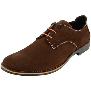 Royals Rugged Mens Suede Lace Up-Flats With 1 Shoe Horn - 92771009
