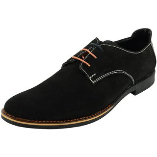 Royals Rugged Mens Suede Lace Up-Flats With 1 Shoe Horn - 92772567