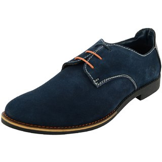 Royals Rugged Mens Suede Lace Up-Flats With 1 Shoe Shiner And 1 Shoe Horn