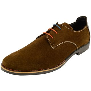 Royals Rugged Mens Suede Lace Up-Flats With 1 Shoe Horn - 92773166
