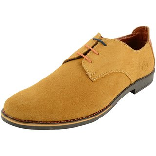 Royals Rugged Mens Suede Lace Up-Flats With 1 Shoe Horn