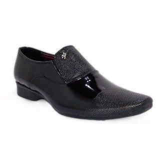 Woof Mens Stylish Black Formal Slip On Shoes - 92833410