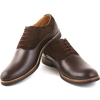 Mars Brown Leather Formal Shoes