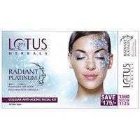 Lotus Herbals Radiant Platinum Cellular Anti Ageing Facial Kit