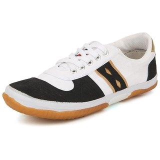 American Swan MenS Black Canvas Sneakers - 92912962
