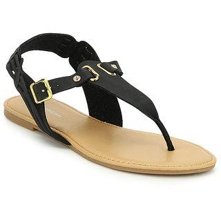 American Swan WomenS Bishop Black Sandals