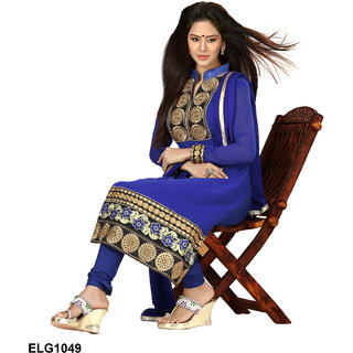 Riti Riwaz  Blue Georgette Designer Suit Including Matching Dupatta-1049