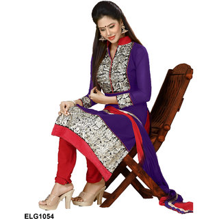 Riti Riwaz  Blue Georgette Designer Suit Including Matching Dupatta-1054