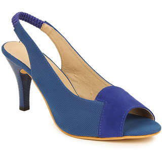 Lovely Chick Womens Blue Round Toe Heel Sandals - 93168071