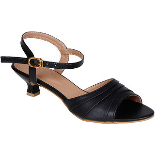 Lovely Chick Womens Black Round Toe Heel Sandals - 93168085