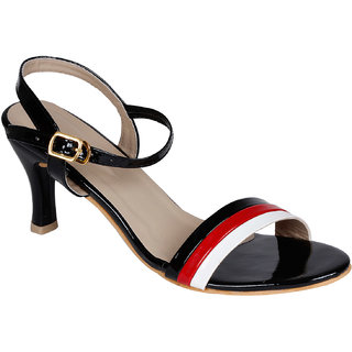 Lovely Chick Womens Black Round Toe Heel Sandals - 93168171