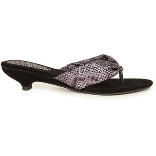 Lovely Chick Womens Black Round Toe Heel Sandals - 93174246