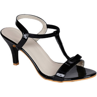 Lovely Chick Womens Black Round Toe Heel Sandals - 93179529