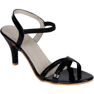 Lovely Chick Womens Black Round Toe Heel Sandals - 93179546