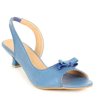 Lovely Chick Womens Blue Round Toe Heel Sandals - 93179586