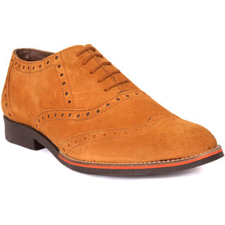 Limerence Men Tan Brogue Casual Shoes