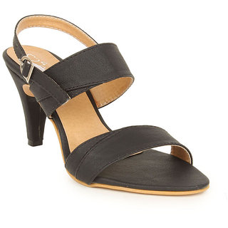 Lovely Chick Womens Black Round Toe Heel Sandals - 93184646
