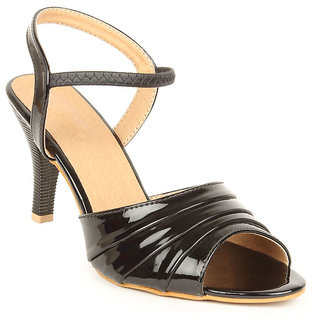 Lovely Chick Womens Black Round Toe Heel Sandals - 93184657
