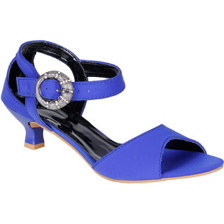 Lovely Chick Womens Blue Round Toe Heel Sandals - 93184711