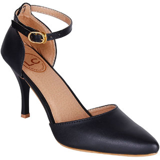 Lovely Chick Womens Black Round Toe Heel Sandals - 93184755
