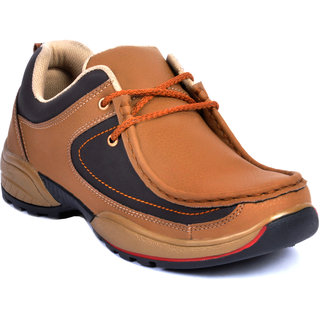 Footlodge Mens Tan Casuals Lace-Up Shoes - 93203651