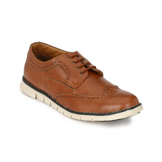 Footlodge Mens Tan Casuals Lace-Up Shoes - 93203434
