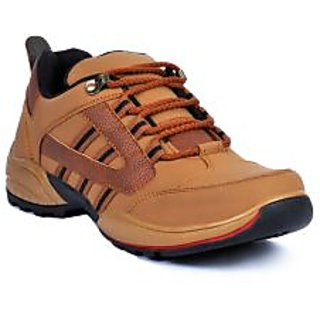 Footlodge Mens Tan Casuals Lace-Up Shoes - 93206132