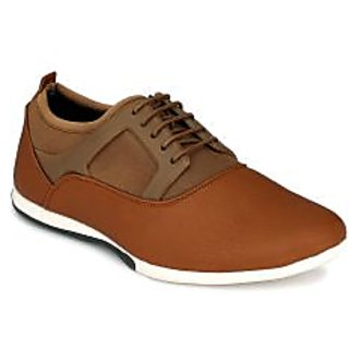 Footlodge Mens Tan Casuals Lace-Up Shoes - 93206167