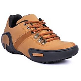 Footlodge Mens Tan Casuals Lace-Up Shoes - 93213886
