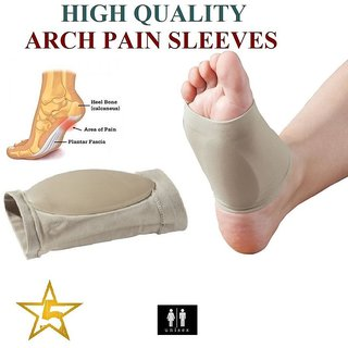 ARCH Sleeve Support Shoe Gel Insole Flat Feet Pad PAIN RELIEF Plantar Fasciitis
