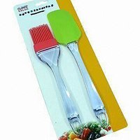SET Of Big Size Silicone Basting Brush & Spatula & Applying Butter / Oil