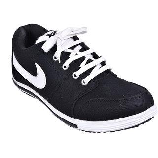 Cool River MenS Black Lace-Up Shoes - 93405048