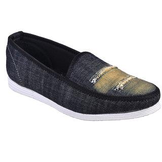 Cool River MenS Black Lace-Up Shoes