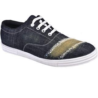 Cool River MenS Black Lace-Up Shoes - 93405016