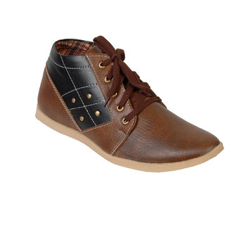 Fr Black And Brown Casual Shoes