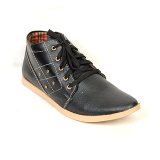 Fr Full Black Casual Shoes
