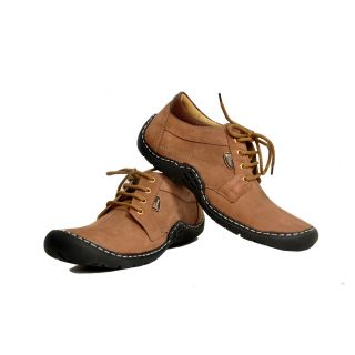 KaceyS Camel Sneakers With Coffee Brown With Black Sole Shoes For Men Size- 6