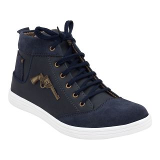 KaceyS Sneakers With Navy Blue With White Sole Shoes For Unisex Size- 6
