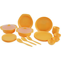 Radha Rani Creation Yellow 32 Pcs Round Dinner Set