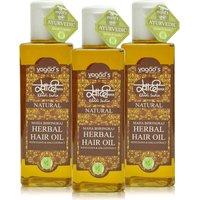 Khadi Maha Bhringraj Herbal Hair OiL  Pack Of 3 200ml