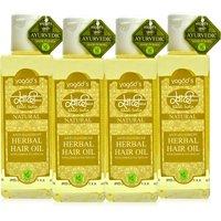 Khadi Anti-Dandruff Herbal Hair Oil Pack Of 4 100 Ml