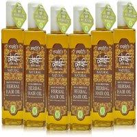 Khadi Maha Bhringraj Herbal Hair OiL  Pack Of 6 200ml