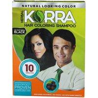 Korra Coloring Shampoo Hair Color Black Pack Of 10 30 ML Each