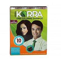 Korra Coloring Shampoo Hair Color Burgundy Pack Of 30 30 ML Each