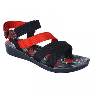 Oricum Footwear Black  Red-904 Women/Girls Sandals