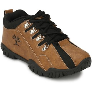 Afrojack MenS Tan Velco Sneakers