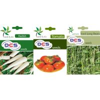 Hybrid Seeds Combo Pack Radish, Tomato  Yard Long Beans Seeds(Pack Of 3) - 93537902